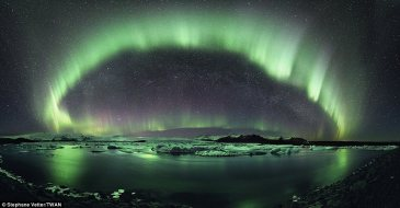 "The first prize in the Beauty of the Night Sky category - Stephane Vetter, ""A Starry Night of Iceland"""