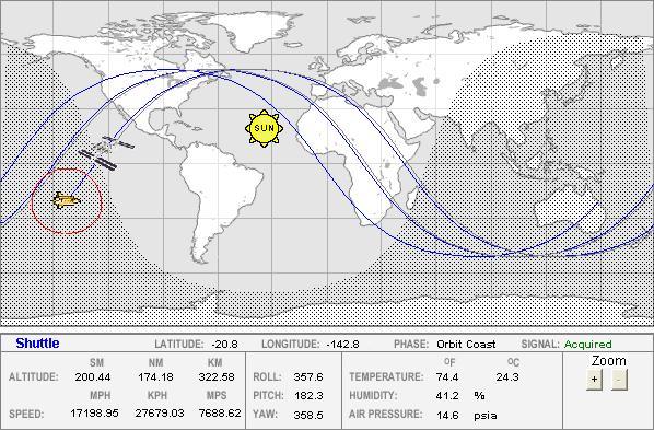 space shuttle orbital tracking - photo #10