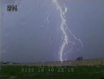 lightning strike at kennedy space center pad 39A