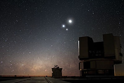 Celestial Conjunction at Paranal sky-watching