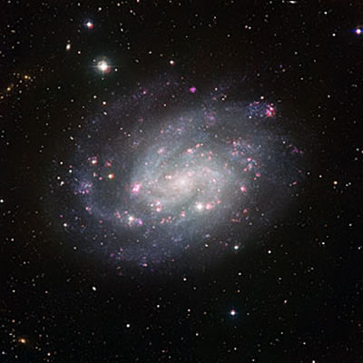 www.sky-watching.co.uk Wide Field Imager view of the southern spiral NGC 300