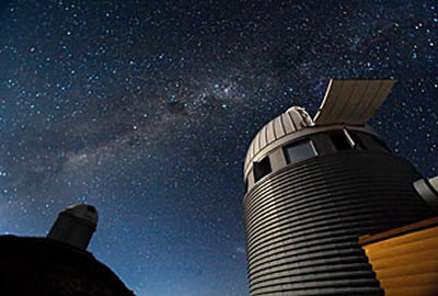 sky watching Swiss and 3.6-m Telescope at La Silla