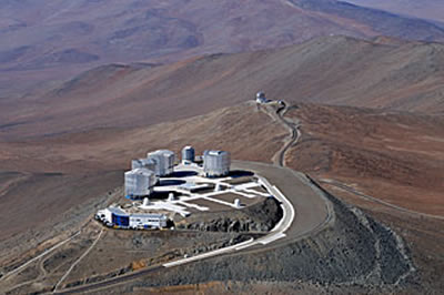 skywatching Bird's Eye View of the Very Large Telescope