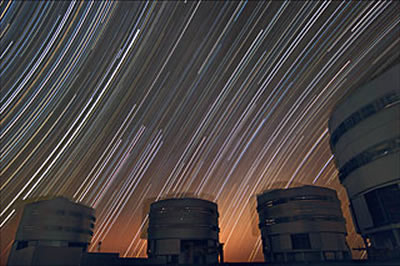 sky watching Trailing stars above Paranal