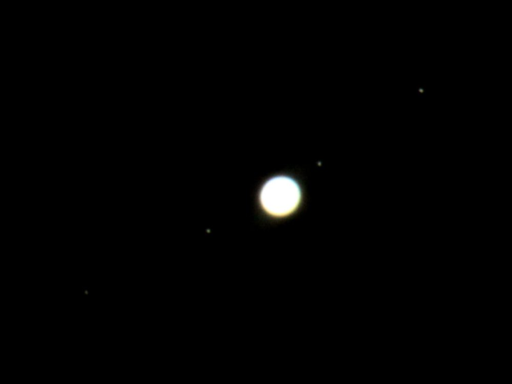Jupiter and moons (left to right: Callisto, Europa, Io and Ganymede) from 28th September 2011 - Credit: Sky-Watching/A.Welbourn
