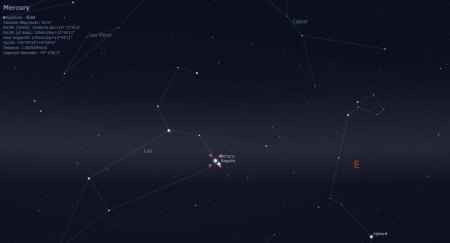 Mercury and Regulus early September Sky-Watching