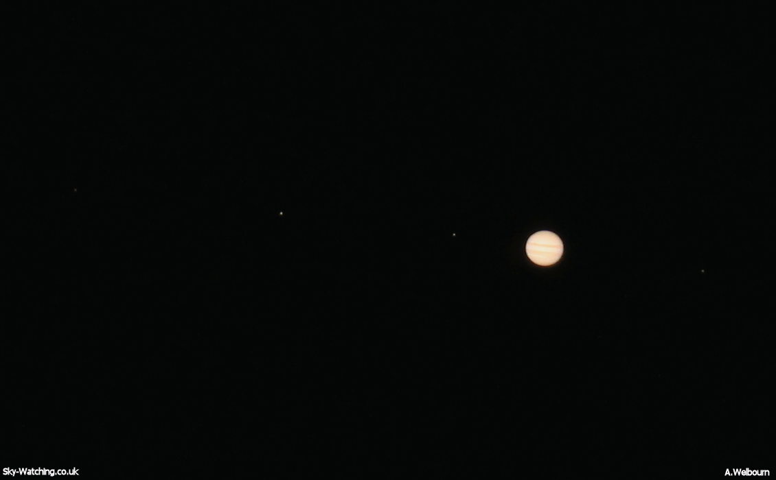 moons and jupiter in telescope - photo #8