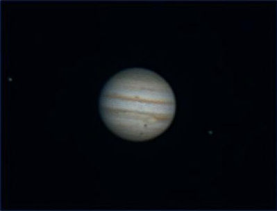 The superb clarity of this image of Jupiter (complete with two Moons) by Paul Wharton shows the beauty of the planet (click to enlarge) - Credit: Paul Wharton