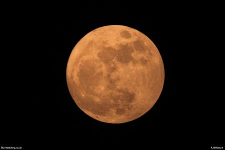 The Full Moon can look beautiful but its brightness can be a problem for astronomers, and be awkward to photograph! (Click to enlarge) - Credit: Sky-Watching/A.Welbourn