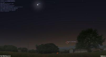 Comet PANSTARRS 15032013 1900UTC Sky-Watching.co.uk