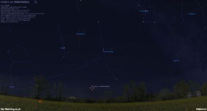 Comet PANSTARRS 20032013 1930UTC Sky-Watching.co.uk