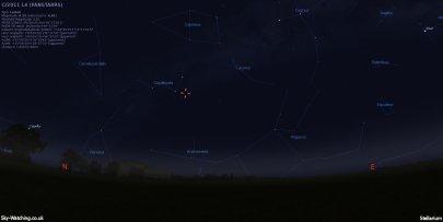 Comet PANSTARRS 17042013 0230UTC Sky-Watching.co.uk