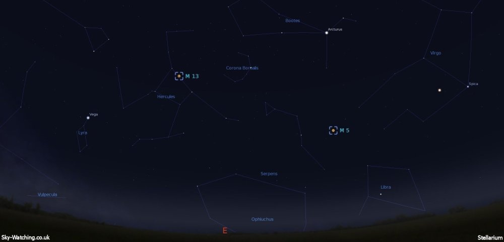 Early Sunday 9th March there were two star clusters I was eager to image! (click to enlarge) - Credit: Sky-Watching/Stellarium