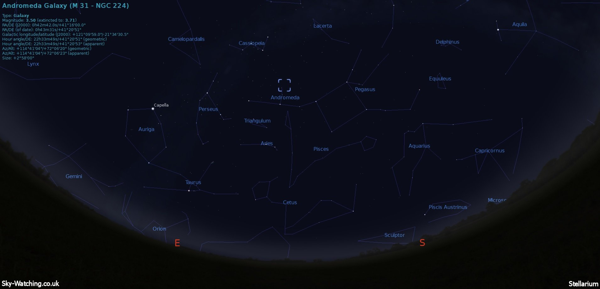 how to find andromeda galaxy in the sky