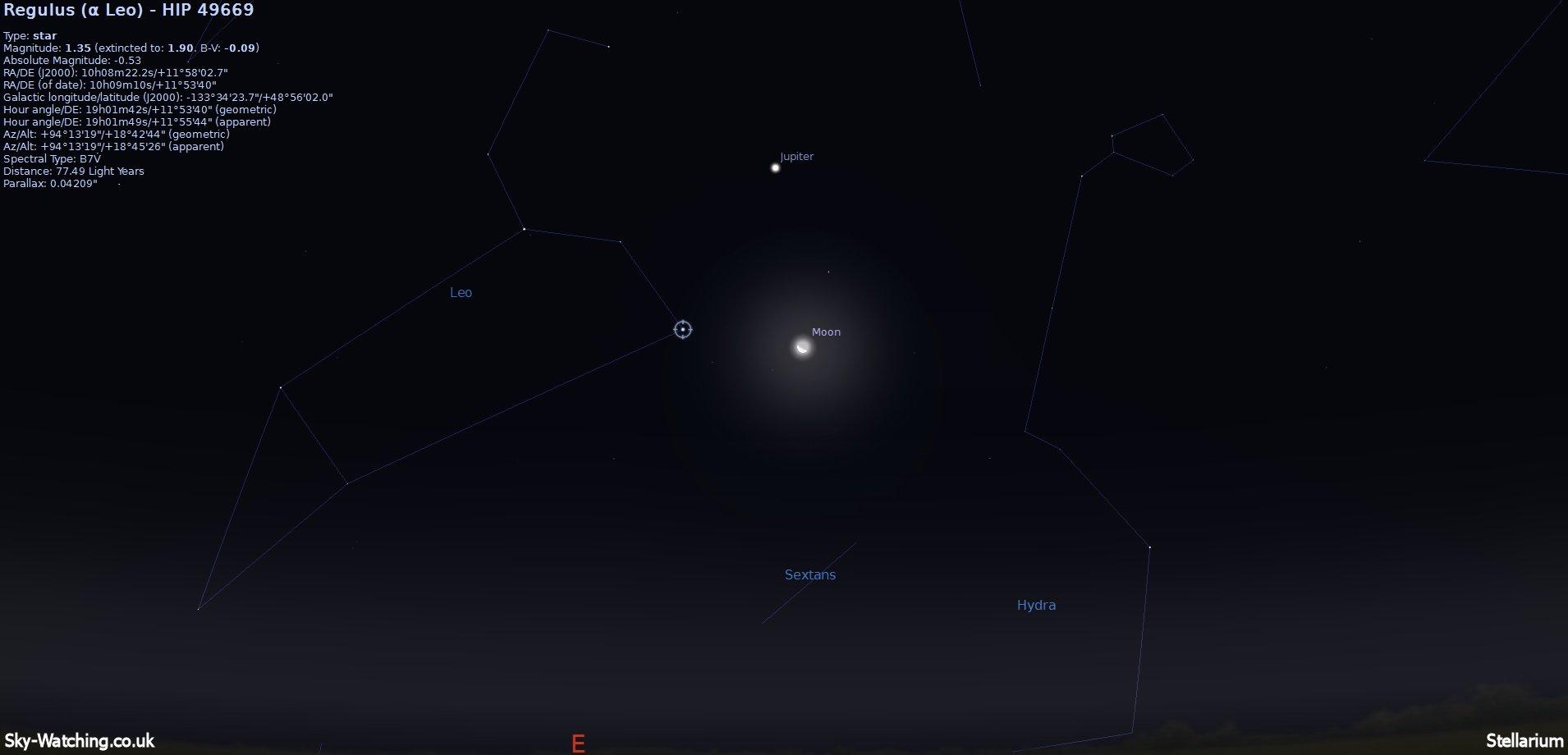 moon viewing jupiter tonight - photo #47